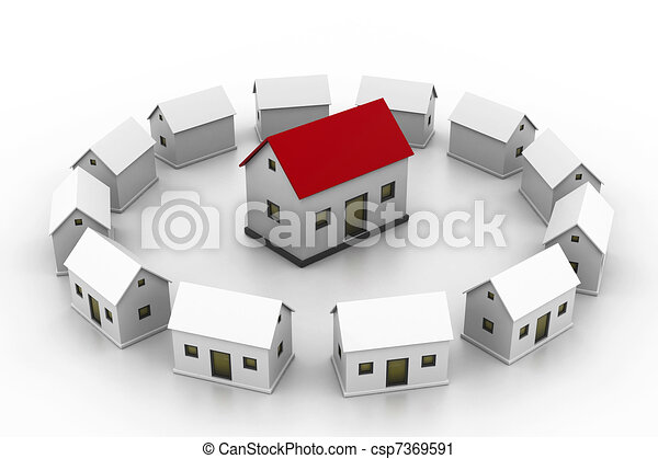 Line Drawing Of Your House : Housing market select your house clipart search illustration