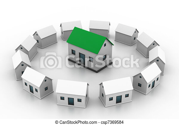 Line Drawing Of Your House : Housing market select your house drawing search clip art