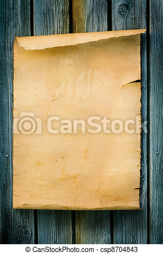 hout, stijl, oud, meldingsbord, papier, westelijk, kunst - csp8704843