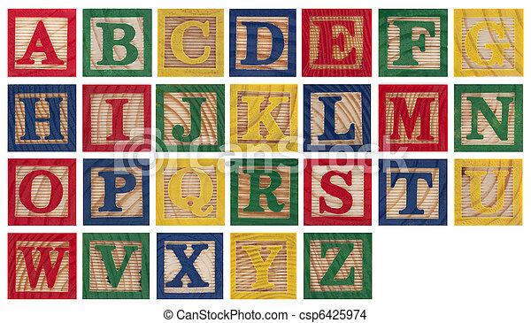 houten alfabet belemmert - csp6425974