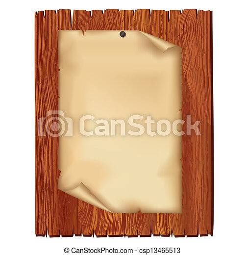 houten, blad, papier, oud, plank - csp13465513