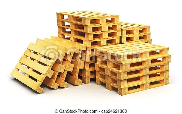 houten, expeditie, opperen, pallets - csp24621368