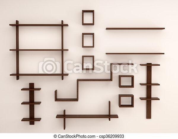 Houten Planken Voor Muur.Houten Geschikte Planken Muur Licht Illustratie Randomly 3d