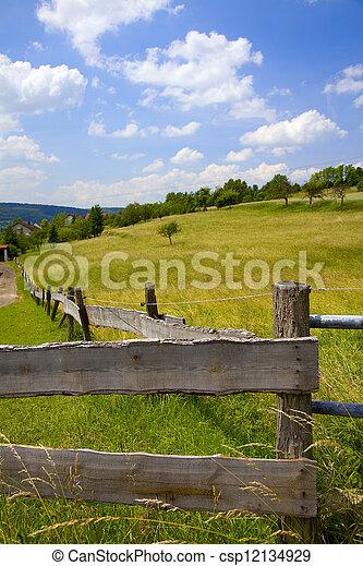 houten hek - csp12134929