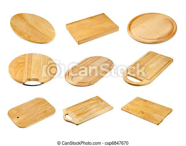 houten, holle weg, gevarieerd, raad - csp6847670