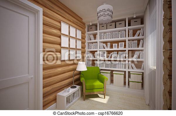 Houten huis interieur. interieur houten moderne woning.