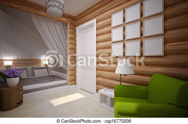Houten huis interieur interieur houten moderne woning