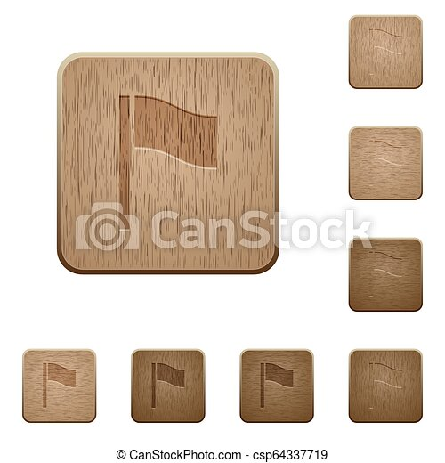 houten, knopen, vlag - csp64337719