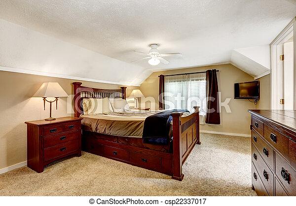 Houten Slaapkamer Meubels : Houten meester rijk slaapkamer interieur meubel plafond set