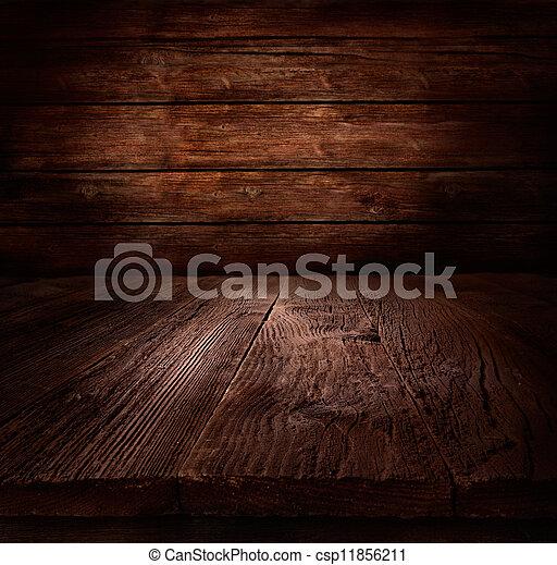 houten, -, muur, hout, achtergrond, tafel - csp11856211