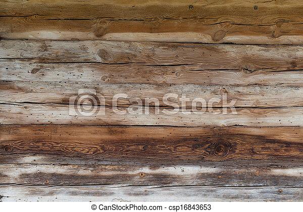 houten, oud, raad, achtergrond - csp16843653