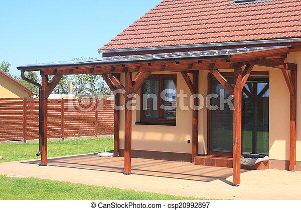Houten pergola houten polycarbonate pergola transparant