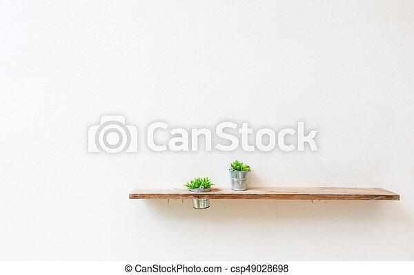 Houten Plank Voor Aan De Muur.Houten Plank Muur Groen Wit Plant
