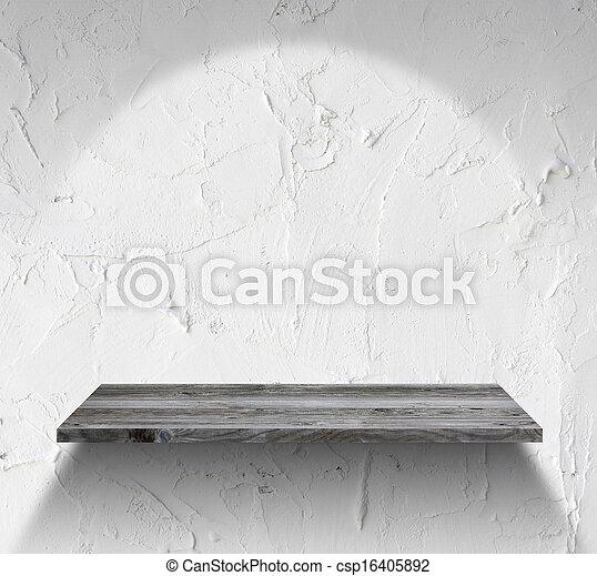 Houten Plank Voor Aan Muur.Houten Plank Witte Lege Muur