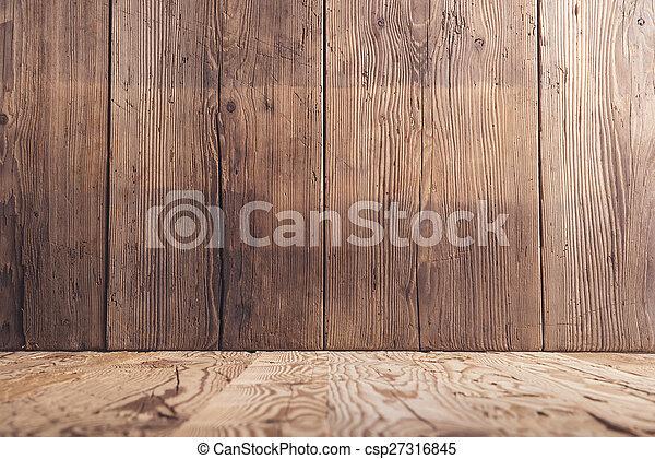 houten raad, achtergrond - csp27316845