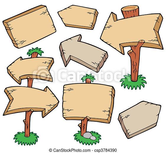 houten raad, verzameling - csp3784390
