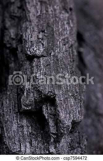 houtskool, textuur - csp7594472