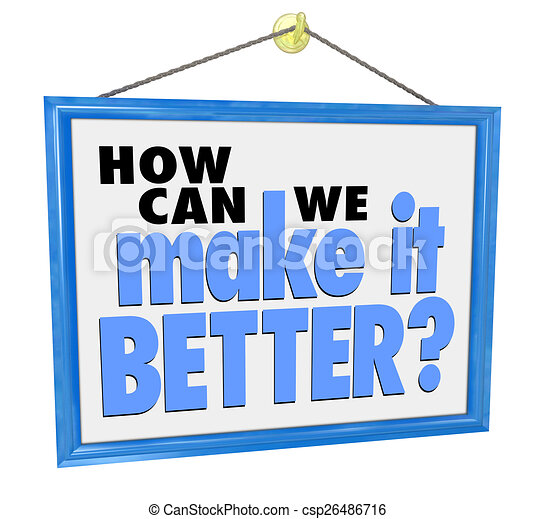 How Can We Make It Better Question Store Sign Customer Support F - csp26486716