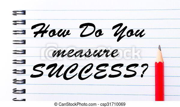 How Do You Measure Success? - csp31710069