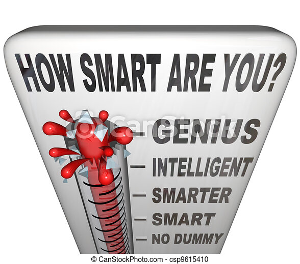 How Smart are You Thermometer Measure Intelligence - csp9615410