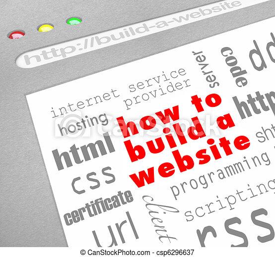 How to Build a Website - Web Screen - csp6296637