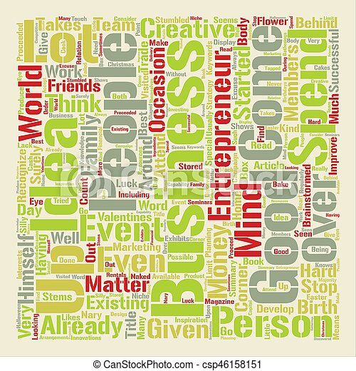 How To Come Up With Good Business Ideas text background word cloud concept - csp46158151