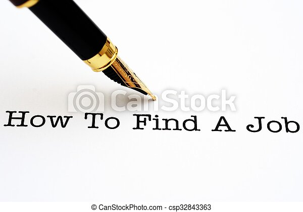 How to find a job - csp32843363