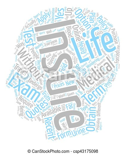 Wonderful How To Find No Medical Life Insurance Quotes Online Text Background  Wordcloud Concept   Csp43175098
