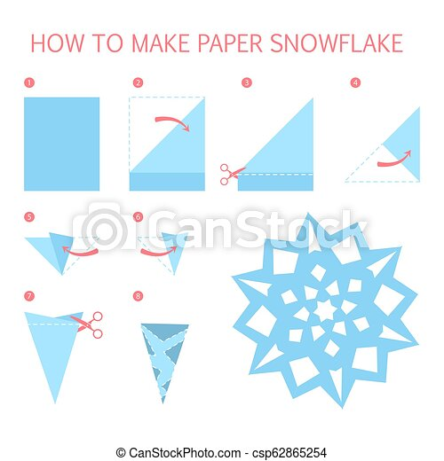 How To Make Christmas White Snowflake Diy