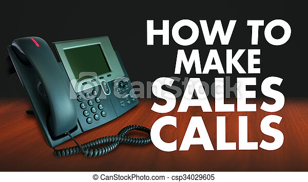 How to Make Sales Calls Words Selling Technique Telephone Marketing - csp34029605