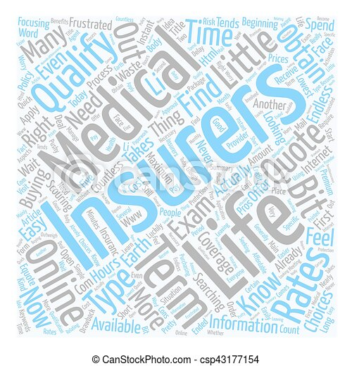 How To Obtain A No Medical Life Insurance Quote Text Background Wordcloud  Concept