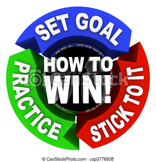 How to Win - 3 Arrows of Advice - csp3776938