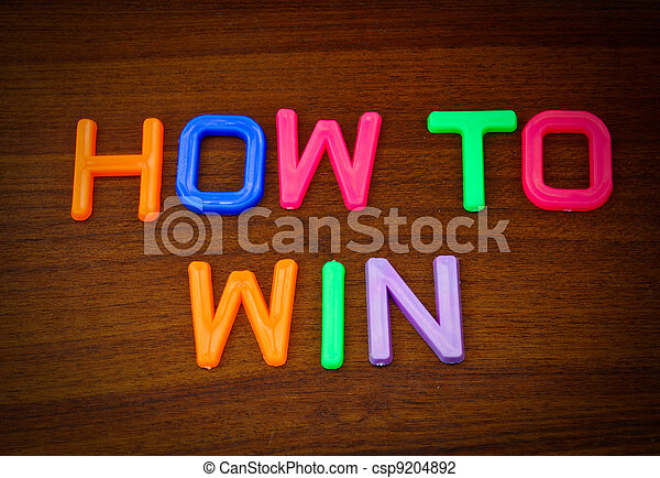 How to win in colorful toy letters - csp9204892