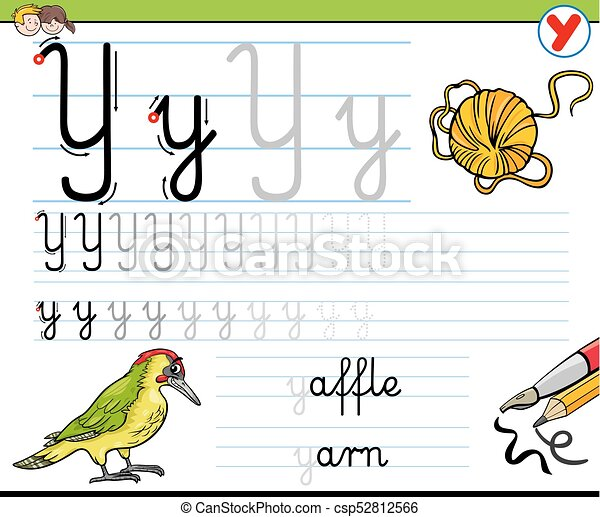 How to write letter y worksheet for kids cartoon illustration of how to write letter y worksheet for kids csp52812566 ibookread ePUb