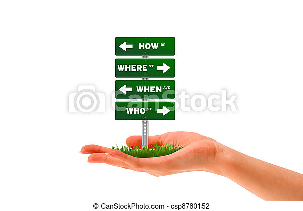 How, Where, When, Who - csp8780152