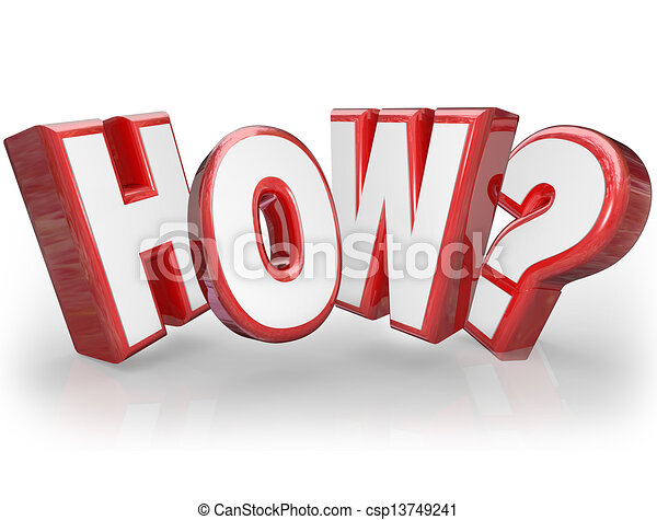 How Word Asking Question Mark 3D Seeking Answer - csp13749241