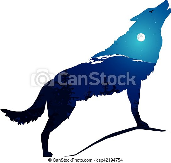 1000 howling wolf vector clipart illustrations rh canstockphoto com wolf clipart graphics free wolf clipart graphics free