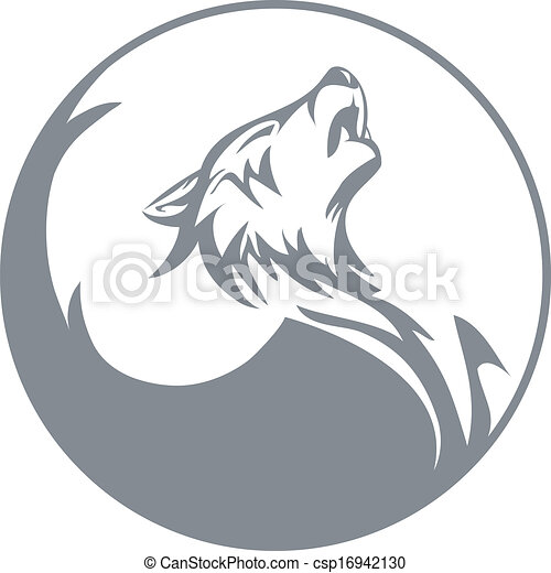 Howling Wolf Stylized Wolf Graphics Vector