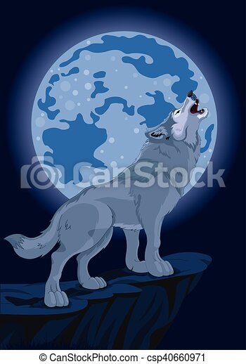 Howling wolf - csp40660971