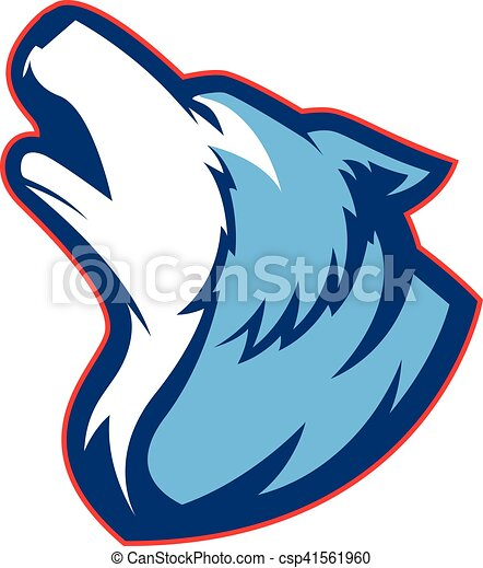 howling wolf mascot clipart picture of a howling wolf clip art rh canstockphoto com clip art wolf howling at the moon clipart wolves on pinterest