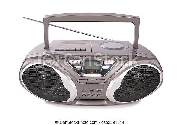 hráč, mini-system, reprodukce zvuku, rádio - csp2591544