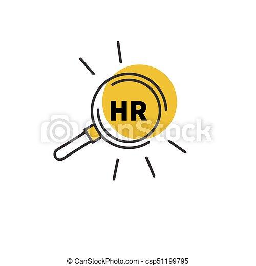 Hr, ressourcen, menschliche . Vektor, ressourcen, hr., menschliche ...