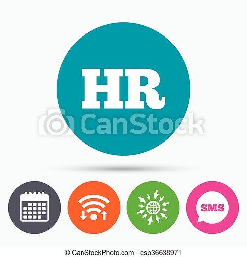 Hr, symbol, zeichen, menschliche , icon., ressourcen. Web, wifi ...