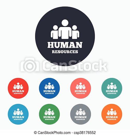 Hr, symbol, zeichen, menschliche , icon., ressourcen. Wohnung ...