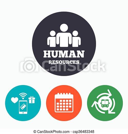 Hr, symbol, zeichen, menschliche , icon., ressourcen.... EPS Vektor ...