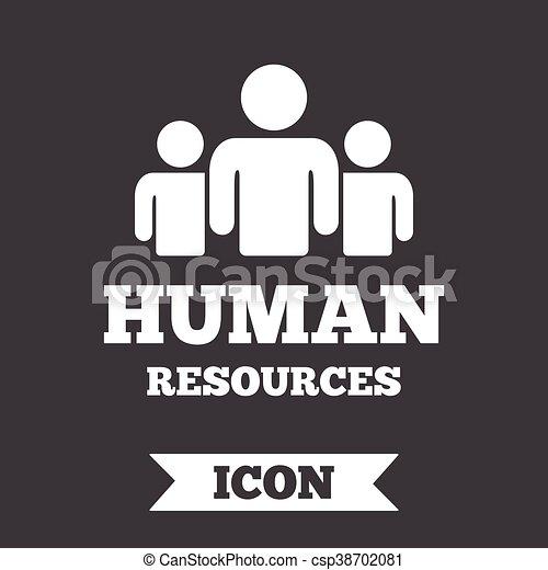 Hr, symbol., zeichen, menschliche , icon., ressourcen.... Vektor ...