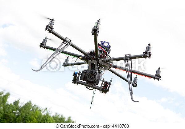 hubschrauber, photographie, multirotor - csp14410700