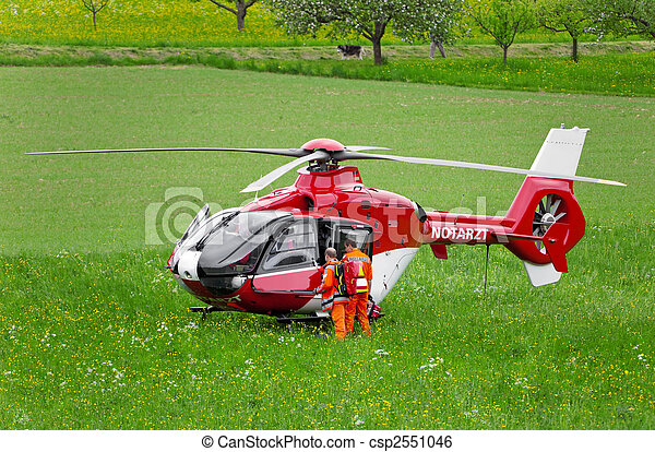 hubschrauber, rettung - csp2551046