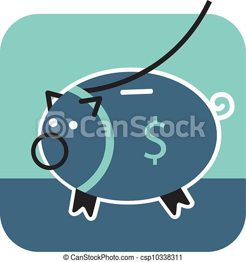 El banco de los cerdos - csp10338311