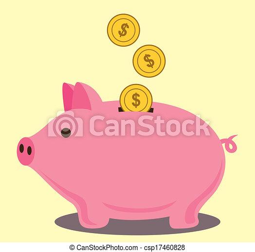 El banco de los cerdos - csp17460828